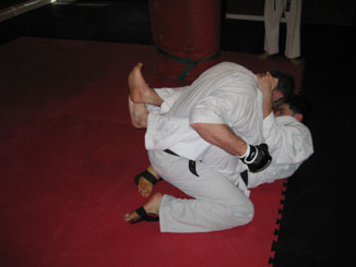 Shihan Jim and Sensei Mohammad Grapple
