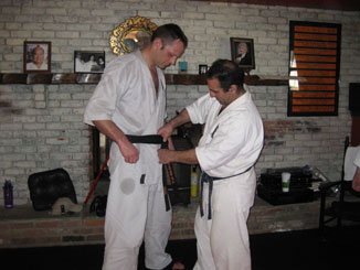 Shihan Jim with Kaicho