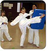 Shihan teaching Kyokushin Karate to children
